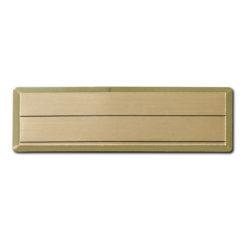 Κονκάρδα μεταλλική ορθογώνια χρυσή μικρή